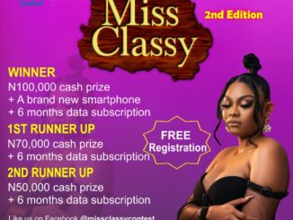 Miss Classy Online Photo Contest 2nd Edition